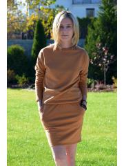 sukienka MESA - kolor KARMEL