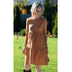 BLUM - midi dress with frills - caramel