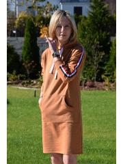 sukienka JANA - kolor KARMEL