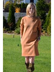 sukienka PATH - kolor KARMEL