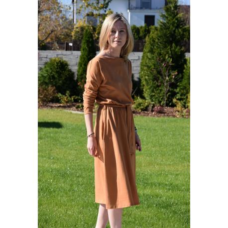 sukienka ROSE - kolor KARMEL