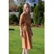 ROSE - dzianinowa sukienka z paskiem - karmel