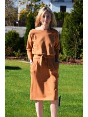 sukienka KIKA - kolor KARMELOWY