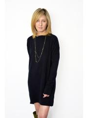 MONA - SWEATER DRESS / TUNIC - black