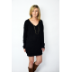 KARO - cotton tunic / mini long sleeve dress