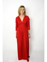 MADELEINE - Long knit dress - red