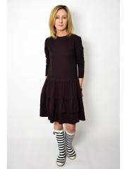 sukienka CINDY - kolor CZEKOLADA