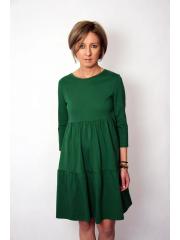 BLUM - midi dress with frills - green
