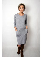 TELMA - viscose dress - gray