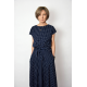 sukienka LUCY - kolor GROSZKI GRANAT