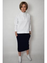 LUMO - long cotton skirt - navy blue