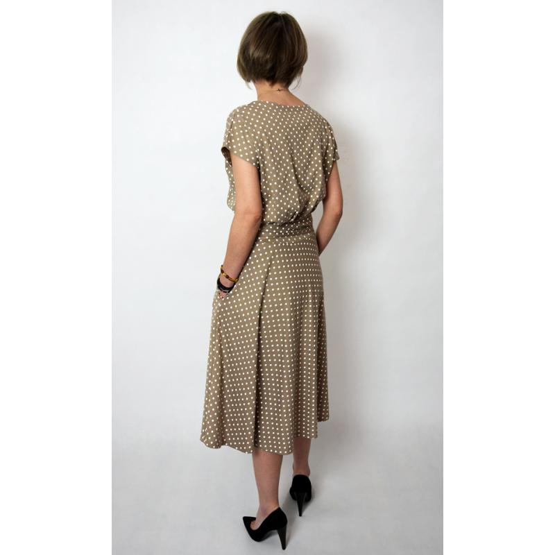 LUCY - Midi Ausgestelltes Kleid gestrickt - mokka in ...