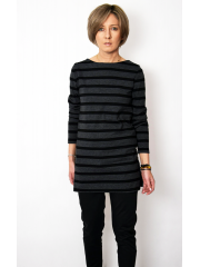 AMBER - cotton blouse with cutouts on the sides - Stripes