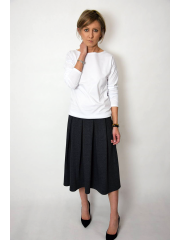 KARI - Cotton midi skirt
