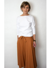 KLAUDIA - cotton SKIRT FROM THE WHEEL 7/8 - caramel