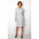 RITA - COTTON DRESS CUTTED IN BELT WITH POCKETS