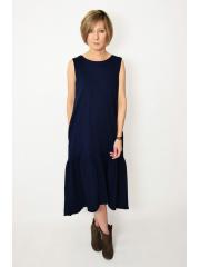 KATIA - midi dress with a frill