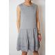 sukienka ELENA - szaro-białe paski