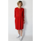ALISON - midi dress with buttons in red