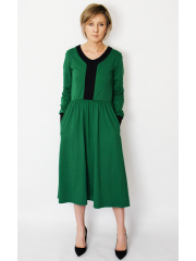 sukienka PURO - kolor ZIELONA