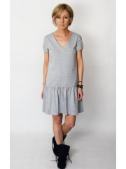 IBIZA - cotton dress with a frill