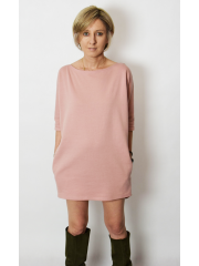 MOON - cotton mini dress tunic - dirty pink