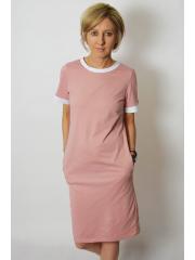 JOAN - t-shirt dress - dirty pink