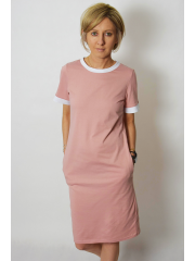 sukienka JOAN - kolor BRUDNY RÓŻ