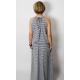 sukienka AMIRA -szaro-białe paski