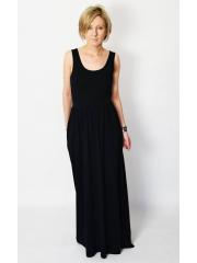 sukienka DONA - kolor CZARNY