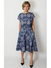LUCY - Midi Flared cotton dress - limited