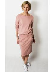 MARTHA - Cotton women's blouse dirty pink color