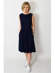 sukienka CLARICE - kolor GRANATOWY