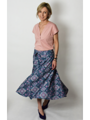 KLAUDIA - cotton SKIRT FROM THE WHEEL 7/8 - ornament