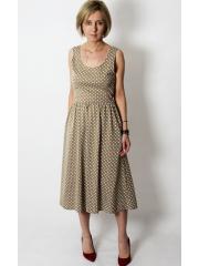 sukienka MEGAN - groszki mokka