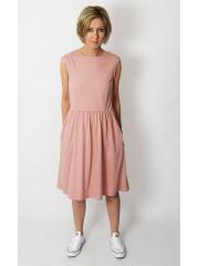 sukienka CLARICE - kolor BRUDNY RÓŻ