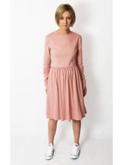 NEL - cotton midi dress - dirty pink