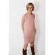 CARRIE - Cotton mini dress - tunic - dirty pink