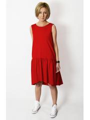 GINA - Minikleid mit Rüschen - rot