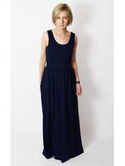 sukienka DONA - kolor GRANATOWY