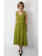 MEGAN - midi dress with straps - olive
