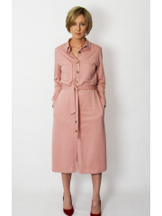 sukienka CAROLINE - kolor BRUDNY RÓŻ