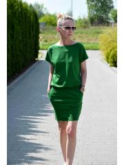 IRON - SUKIENKA Z KRÓTKIM RĘKAWEM - zielony