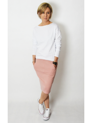 OLGA - sweatshirt with pockets - dirty pink