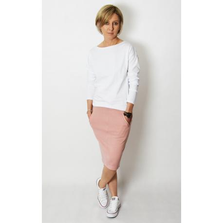 OLGA - Sweatshirt mit Taschen - schmutziges Rosa
