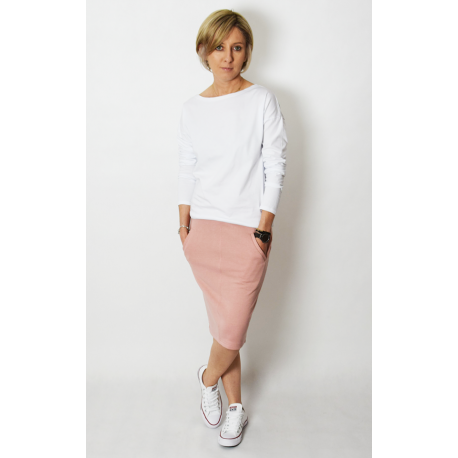 OLGA - sweatshirt with pockets - dirty pink