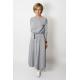 sukienka ADELA - szaro-białe paski