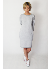 sukienka IRMA -kolor SZARY