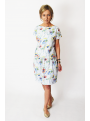 SPALLA - mini cotton dress - poppy flowers