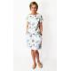SPALLA - mini dress - navy blue polka dots